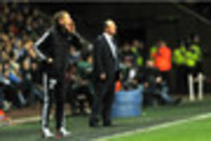 napoli boss rafa benitez says swansea city head coach garry monk...